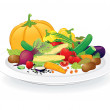 Plate with Vegetables — Stockfoto