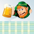 Happy St. Patrick's Day Card with Drunk Leprechaun — Stock Photo