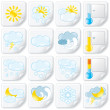 Weather Forecast Stickers. Icon Set — Stockfoto
