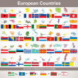 European Countries with Flags. Vector Collection — Vector de stock