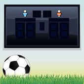 Vector Soccer Scoreboard. Vector Template — Stock Vector
