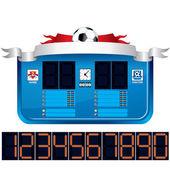 Soccer Scoreboard. Vector Ready for Your Text — Stock Vector