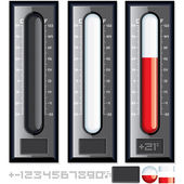 Thermometer Vector Kit. Customizable Illustration — Stock Vector