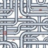 Isolated Seamless Pipeline. Vector Illustration — Wektor stockowy