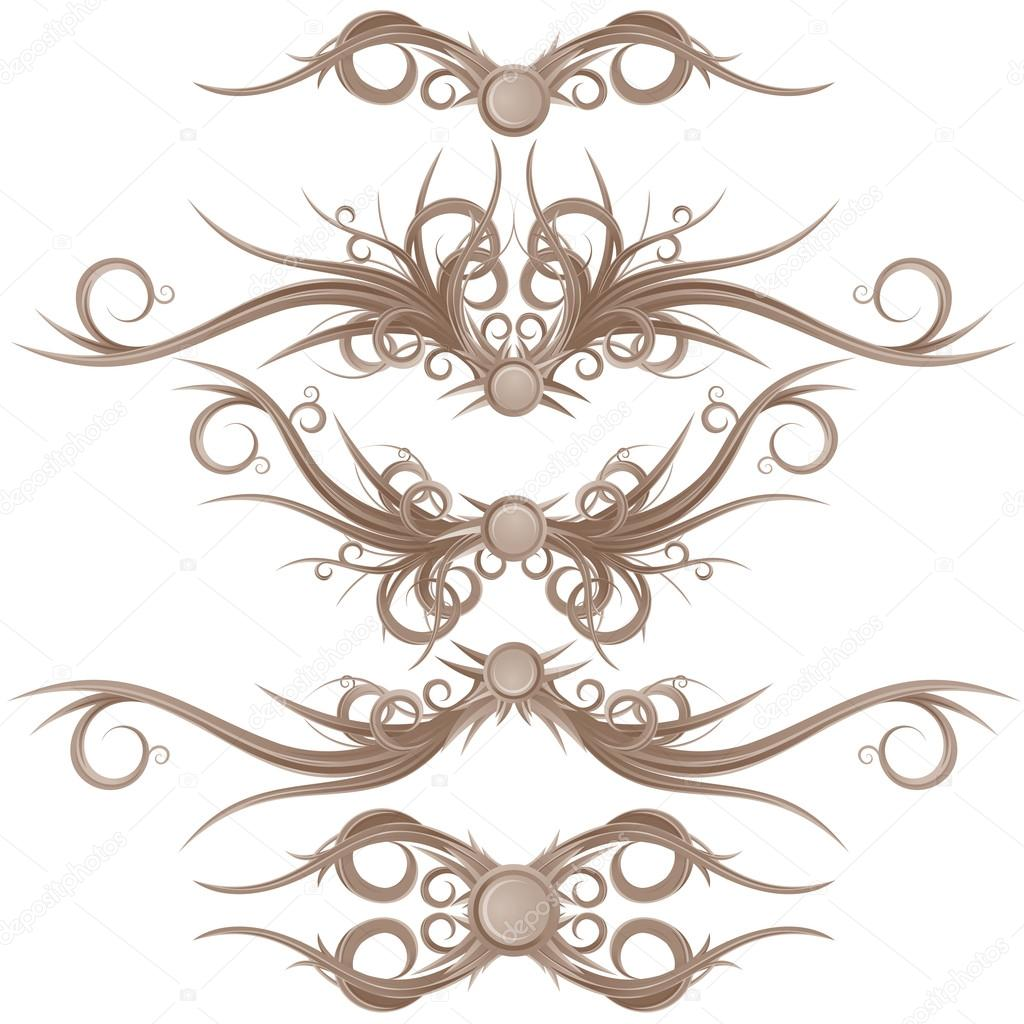Gothic borders and design elements stock vector pilart for Gothic design elements