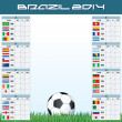 World Soccer Championship Groups — Vector de stock