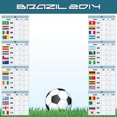 World Soccer Championship Groups — Stock Vector