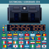 Soccer World Cup Scoreboard. Vector Kit — Vecteur