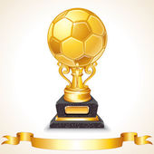 Abstract Golden Soccer Trophy. Vector Illustration — Stock Vector