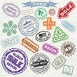 Shopping Stamps — Stock Vector #8440202