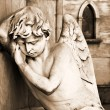 sleeping angel at la recoleta cemetery — Stock Photo