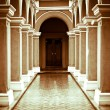 Passageway of national library building in Lima Peru — Stock Photo