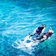Couple skorkelling on Great Barrier Reef, Australia — Stock Photo #29203831