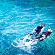 Couple skorkelling on the Great Barrier Reef, Australia — Stock Photo #29203831