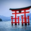 Torii gate at Miyajima, near Hiroshima - Japan — Stock Photo