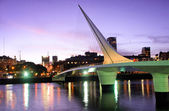 Puerto Madero neighborhood at Night, Skyline, Buenos Aires, Argentina — Stock Photo