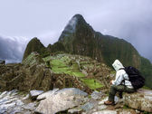 Machu Picchu on a cloudy day — Stock Photo