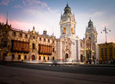 Plaza de armas in Lima, Peru — Stock Photo