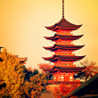 Five-storey pagoda in Miyajima, Japan — Photo