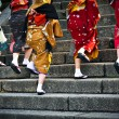 Japanese ladies in traditional dress — Stock Photo