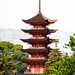 Stock Photo: Five-storey pagodin Miyajima, Japan