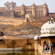 Amber Fort near Jaipur city in India. Rajasthan — Stock Photo