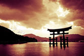 Torii gate at Miyajima, Japan — Stock Photo