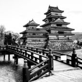 Matsumoto Castle, - one of the oldest in Japan — Stock Photo