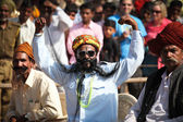 Unidentified contestants in the moustache contest at the Pushkar fair. — Stock Photo