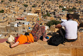 View of Jaisalmer from the fort — Foto de Stock