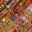 Patchwork quilt in India — Stock Photo