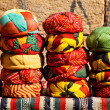 Colorful headgear at a market in Jaialsmer,India — Stock Photo