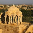 Stockfoto: BadBagh Cenotaph in Jaisalmer,India