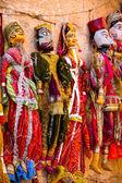 Fantoches em mercado na índia jaisalmer — Foto Stock