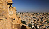 View of Jaisalmer from the fort — 图库照片