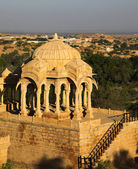 Bada Bagh Cenotaph in Jaisalmer,India — Foto de Stock
