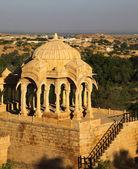 Bada bagh cenotáfio em jaisalmer, índia — Foto Stock