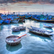 Fishing boats in marinat Phat Thiet, Mui Ne, Vietnam — Stock Photo #29237705