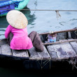 Woman on boat in Vietnam — Stock Photo
