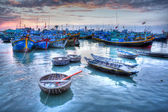 Fishing boats in marina at Phat Thiet, Mui Ne, Vietnam — Stock Photo