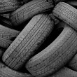 Stock Photo: Old Car Tyres
