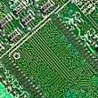 Closeup of computer circuit board — Stock Photo