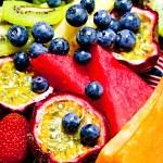 Fresh fruit platter — Stock Photo