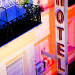Hotel sign at night in Buenos Aires  — Foto Stock