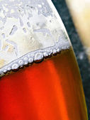 Closeup of cold beer glass — Stock Photo