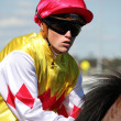 MELBOURNE - MARCH 13: Jockey Craig Williams on Carrara before the start of the Crown Guineas — Stock Photo #29266323