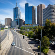 MELBOURNE, AUSTRALIA - OCTOBER 29: Melbourne skyline and exhibition street extension — Stock Photo