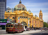 MELBOURNE, AUSTRALIA - OCTOBER 29: Iconic Flinders Street Station — Stock Photo