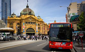 MELBOURNE, AUSTRALIA - OCTOBER 29 : Iconic Flinders Street Station — Stock Photo