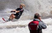Melbourne, Australien - 11 mars: breanne dodd i slalom händelse på moomba masters — Stockfoto